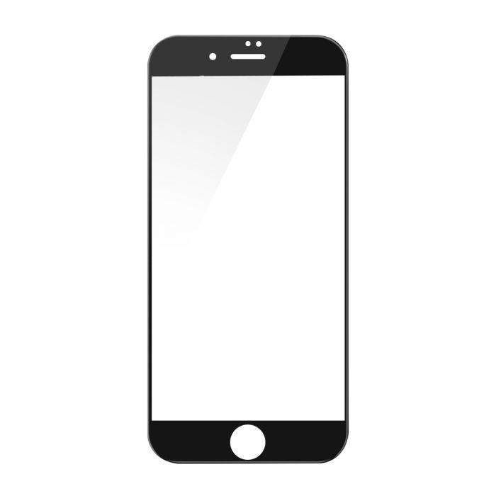Folie iPhone 8 Plus / 7 Plus Devia Sticla Temperata 3D Black (1 fata margini curbate + 1 spate Clear