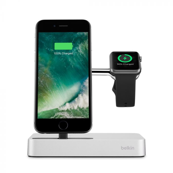 Belkin Dock Valet Lightning + Apple Watch Silver