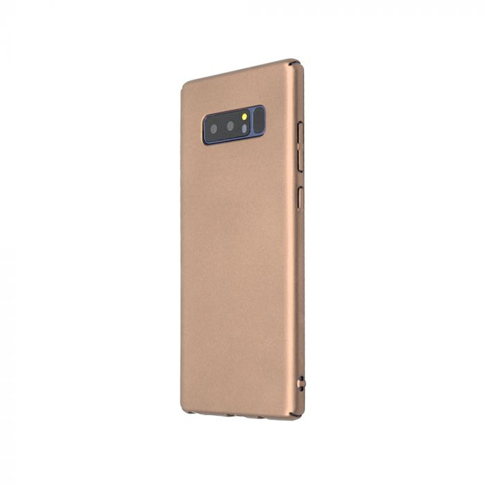 Carcasa Samsung Galaxy Note 8 Just Must Uvo Gold (material fin la atingere, slim fit)