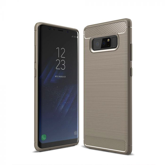Carcasa Samsung Galaxy Note 8 Just Must Armour Soft Gray (antishock si flexibil)