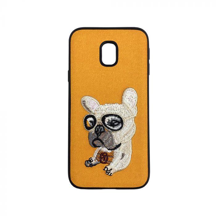 Carcasa Samsung Galaxy J3 (2017) Lemontti Embroidery Orange Puppy