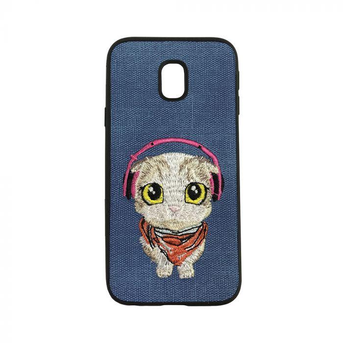 Carcasa Samsung Galaxy J5 (2017) Lemontti Embroidery Blue Puppy