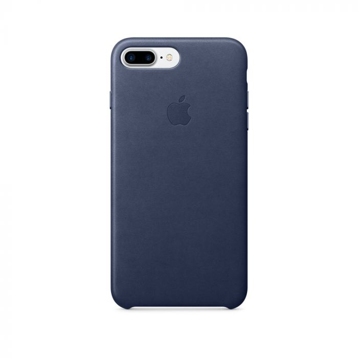 Carcasa iPhone 8 Plus / 7 Plus Apple Leather Midnight Blue (piele naturala)