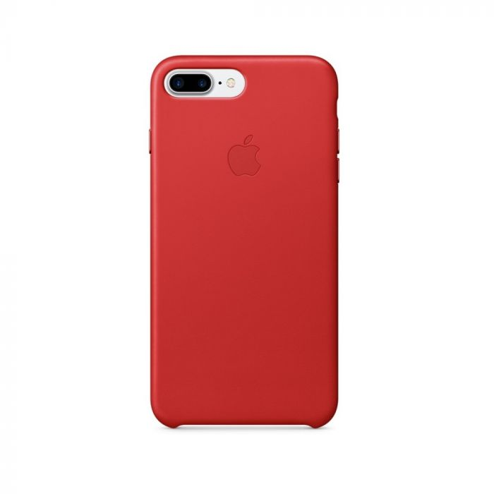 Carcasa iPhone 8 Plus / 7 Plus Apple Leather Red (piele naturala)