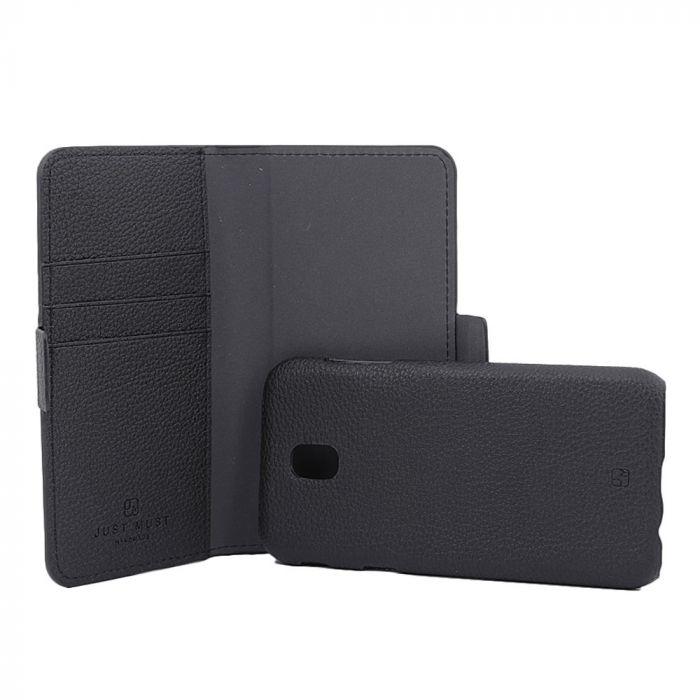 Husa Samsung Galaxy J5 (2017) Just Must Book Car Wallet Black (carcasa interior detasabila)