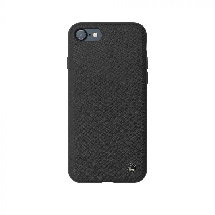 Carcasa iPhone 8 / 7 Occa Exquis Car Black (margini flexibile, placuta metalica integrata)