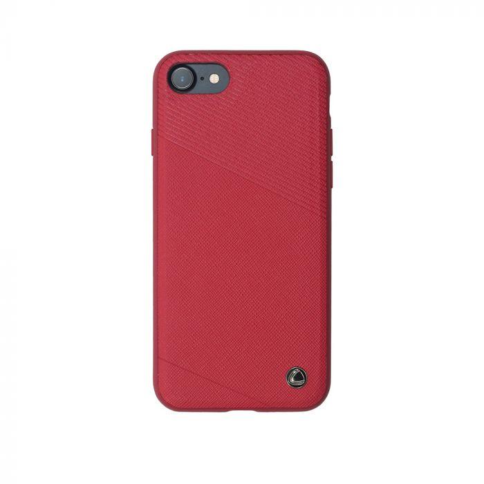 Carcasa iPhone 8 / 7 Occa Exquis Car Red (margini flexibile, placuta metalica integrata)