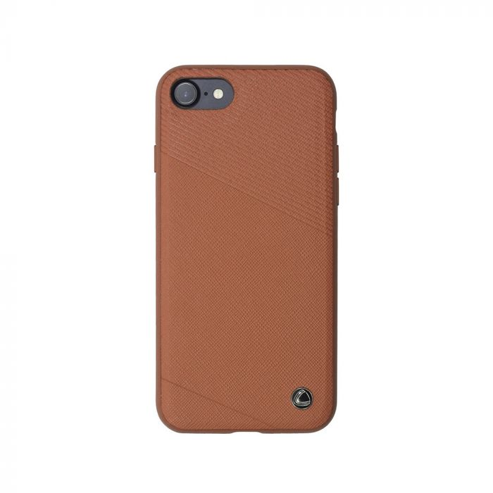 Carcasa iPhone 8 / 7 Occa Exquis Car Brown (margini flexibile, placuta metalica integrata)