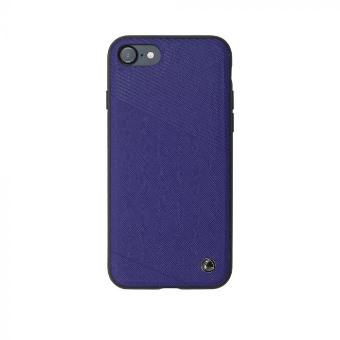 Carcasa iPhone 8 / 7 Occa Exquis Car Navy (margini flexibile, placuta metalica integrata)