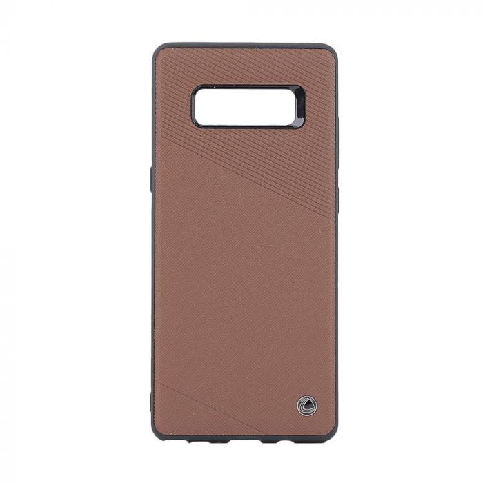 Carcasa Samsung Galaxy Note 8 Occa Exquis Car Brown (margini flexibile, placuta metalica integrata)