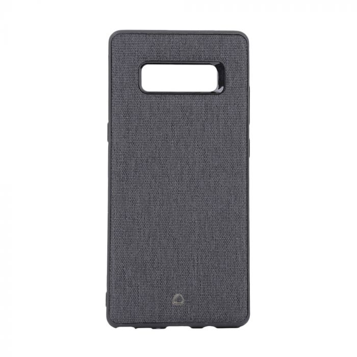 Carcasa Samsung Galaxy Note 8 Occa Linen Car Black (margini flexibile, material textil, placuta meta