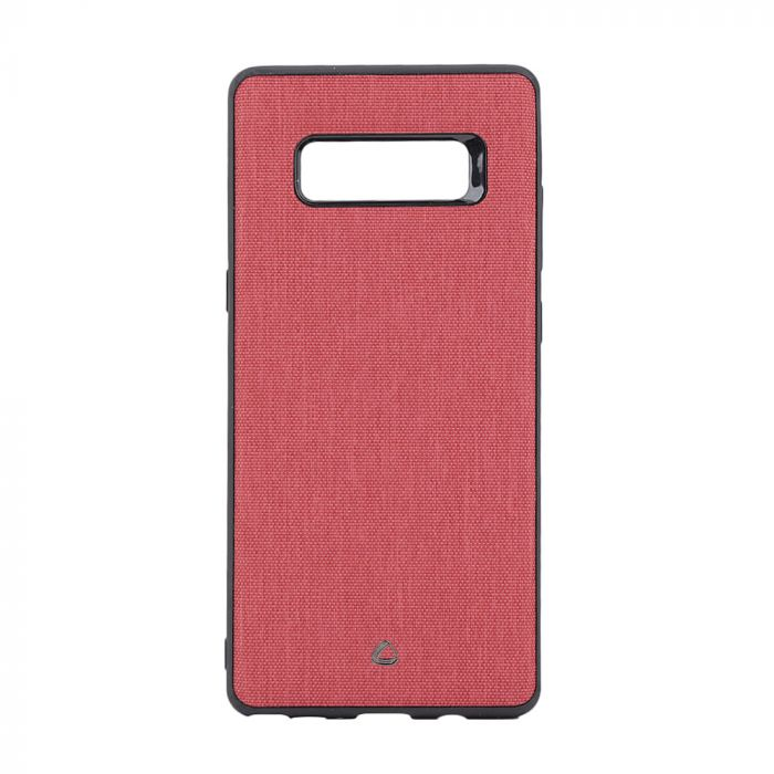 Carcasa Samsung Galaxy Note 8 Occa Linen Car Red (margini flexibile, material textil, placuta metali