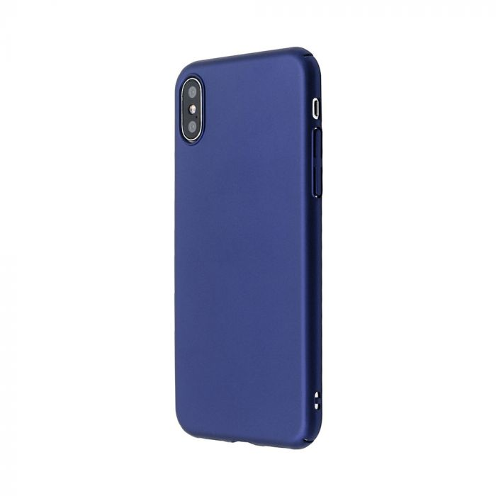 Carcasa iPhone X / XS Just Must Uvo Navy (material fin la atingere, slim fit)