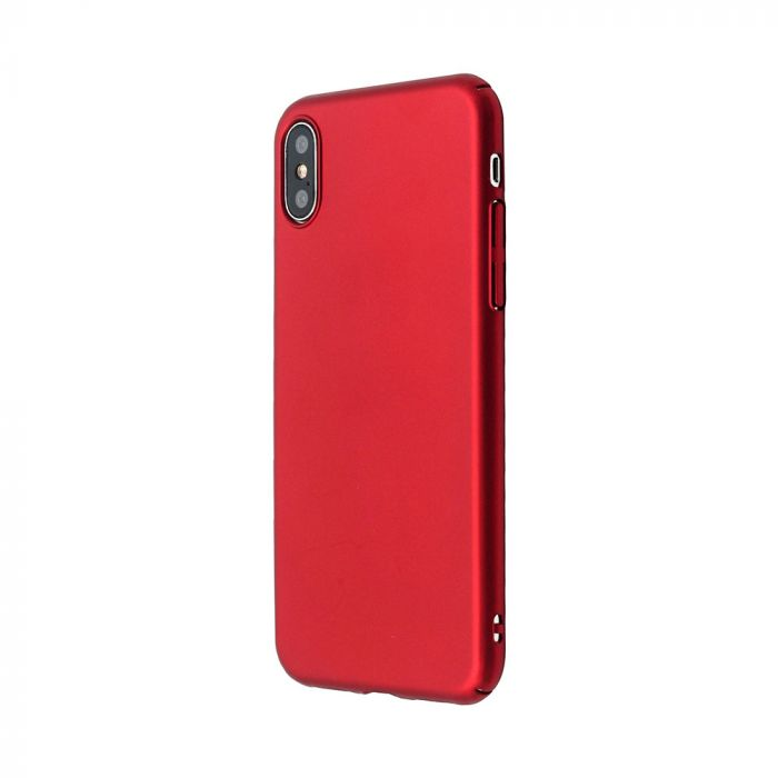 Carcasa iPhone X / XS Just Must Uvo Red (material fin la atingere, slim fit)
