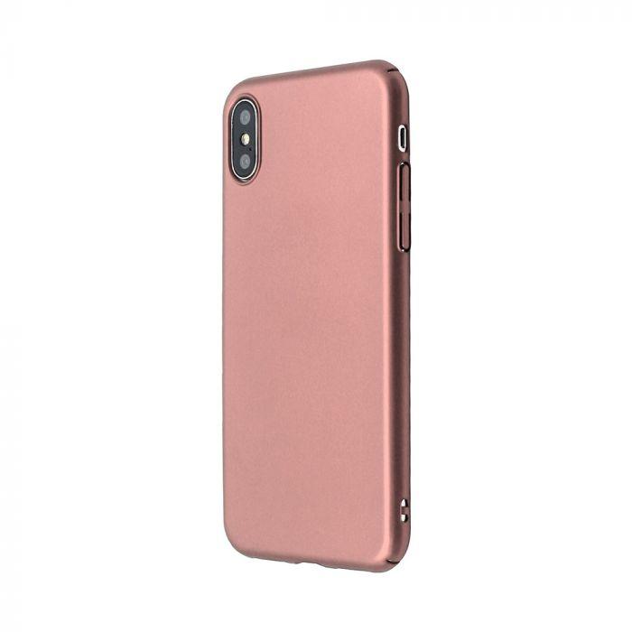 Carcasa iPhone X / XS Just Must Uvo Rose Gold (material fin la atingere, slim fit)