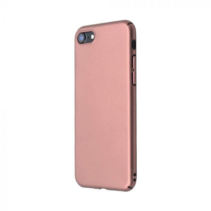 Carcasa iPhone 8 Just Must Uvo Rose Gold (material fin la atingere, slim fit)