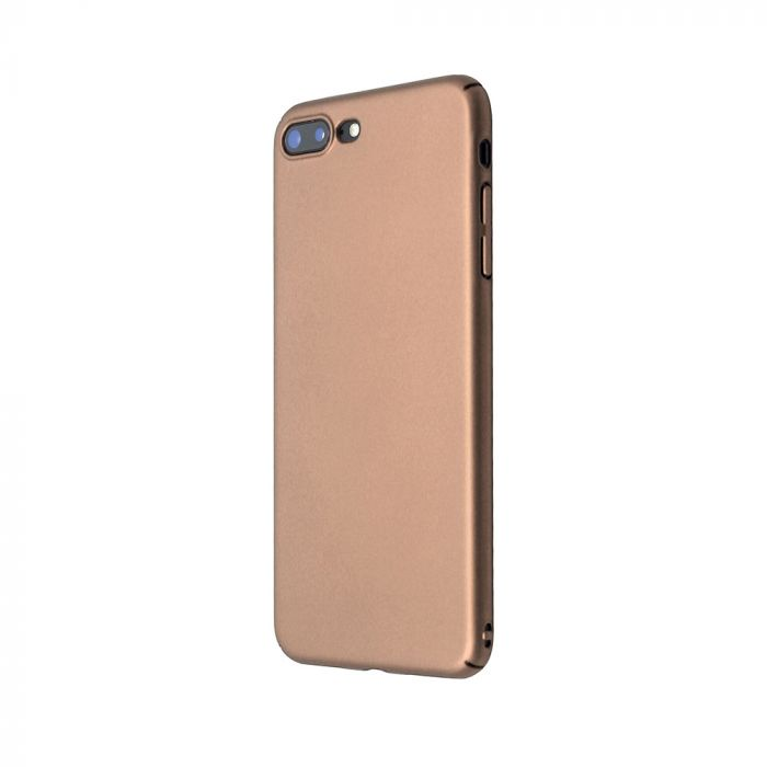 Carcasa iPhone 8 Plus Just Must Uvo Gold (material fin la atingere, slim fit)