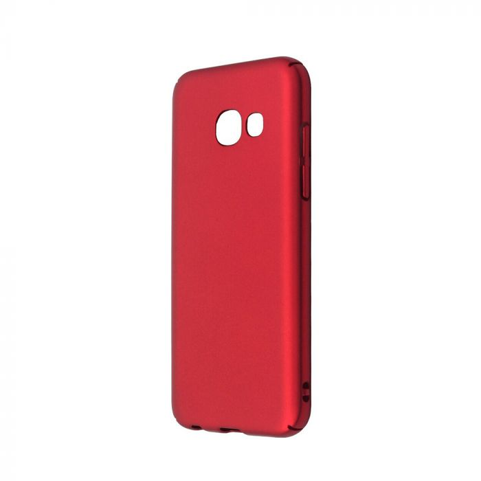 Carcasa Samsung Galaxy A3 (2017) Just Must Uvo Red (material fin la atingere, slim fit)