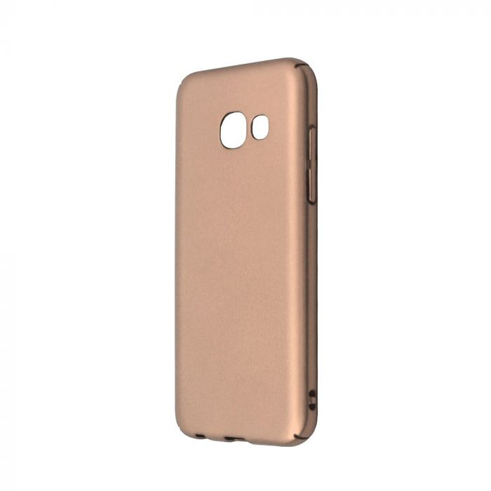 Carcasa Samsung Galaxy A3 (2017) Just Must Uvo Gold (material fin la atingere, slim fit)