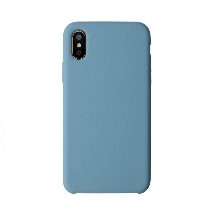 Carcasa iPhone X Just Must Liquid Silicone Azure