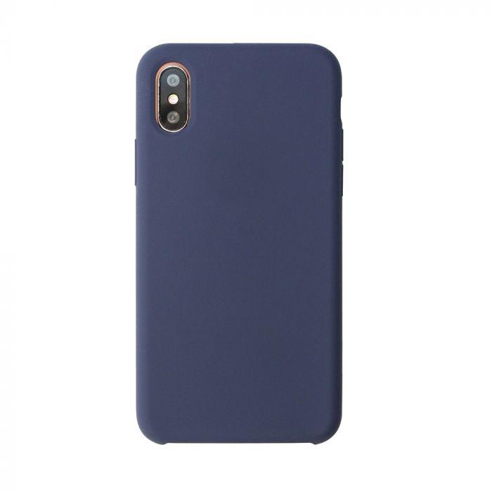 Carcasa iPhone X Just Must Liquid Silicone Midnight Blue