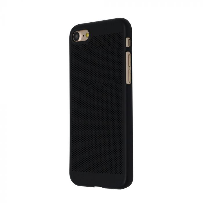 Carcasa iPhone 8 Just Must Simo II Black (gaurele pentru disiparea caldurii)