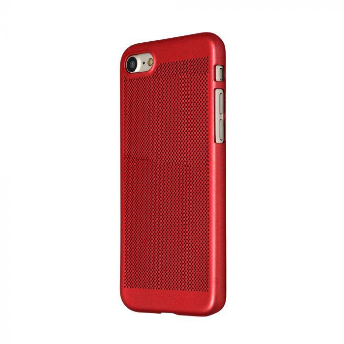 Carcasa iPhone 8 Just Must Simo II Red (gaurele pentru disiparea caldurii)