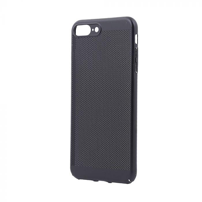 Carcasa iPhone 8 Plus Just Must Simo II Black (gaurele pentru disiparea caldurii)