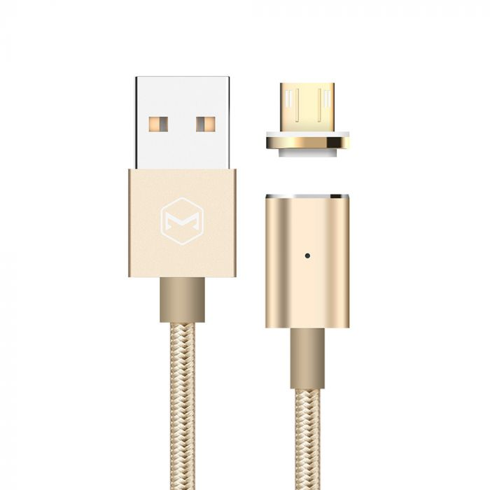 Cablu MicroUSB Mcdodo Magnetic Gold (1.2m, 2.4A max, led indicator)