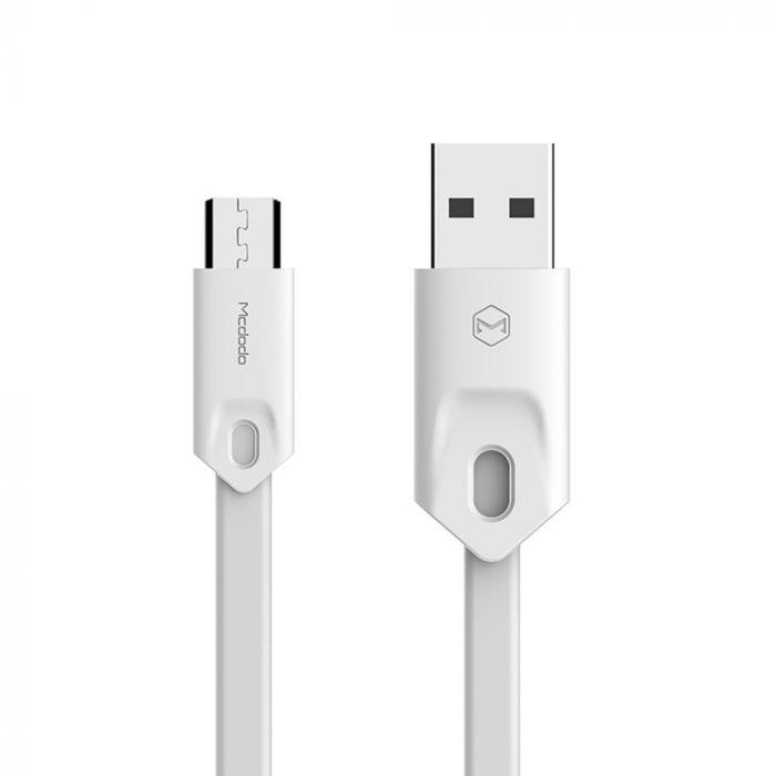 Cablu MicroUSB Mcdodo Gorgeous White (1m, 2.4A max)