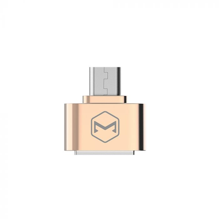 Adaptor MicroUSB la port USB 2.0 Mcdodo OTG Gold (conectare periferice prin USB)