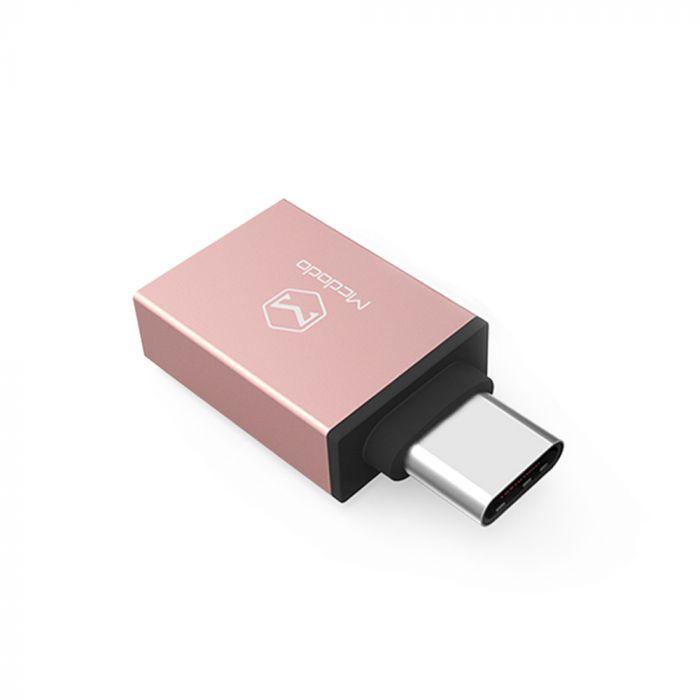 Adaptor Type-C la USB 3.0 Mcdodo OTG Rose Gold Aluminium (conectare periferice prin USB)