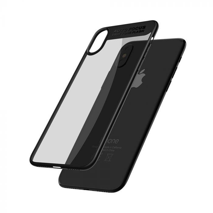 Carcasa iPhone X Mcdodo Dual Clear Bumper Black