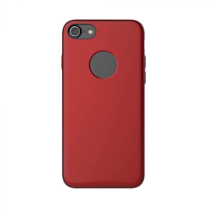 Carcasa iPhone 7 Mcdodo Magnetic Red (textura fina, placuta metalica integrata)