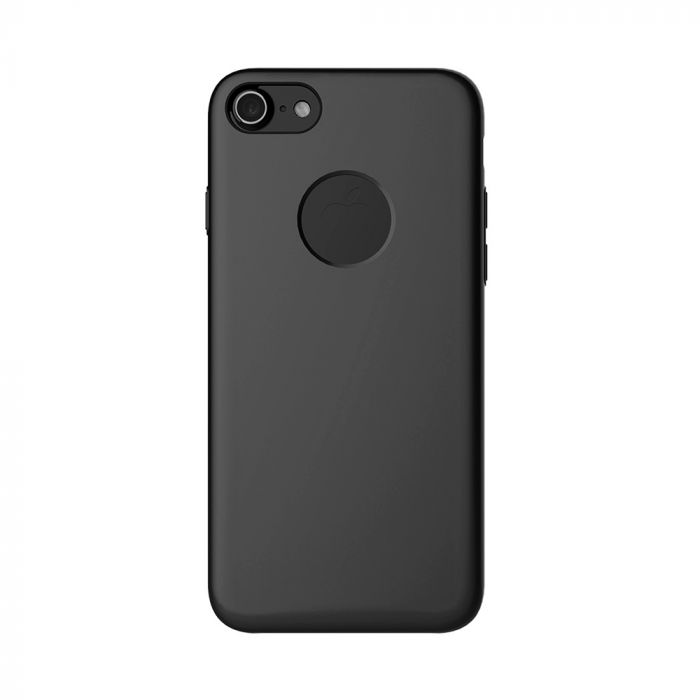 Carcasa iPhone 7 Mcdodo Magnetic Black (textura fina, placuta metalica integrata)