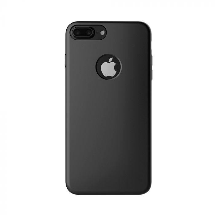 Carcasa iPhone 7 Plus Mcdodo Magnetic Black (textura fina, placuta metalica integrata)