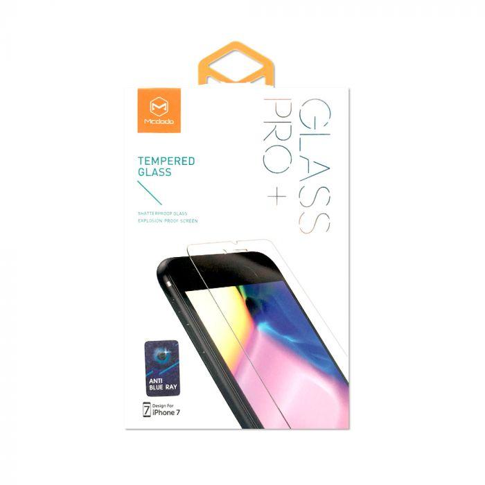 Folie iPhone 8 / 7 Mcdodo Sticla Anti-BlueRay Clear 2.5D, 9H, securizata antisoc grad 0