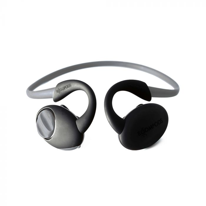 Casti Boompods Sportpods Enduro Dark Grey (in-ear, bluetooth, quick on-ear controls, sweat resistant
