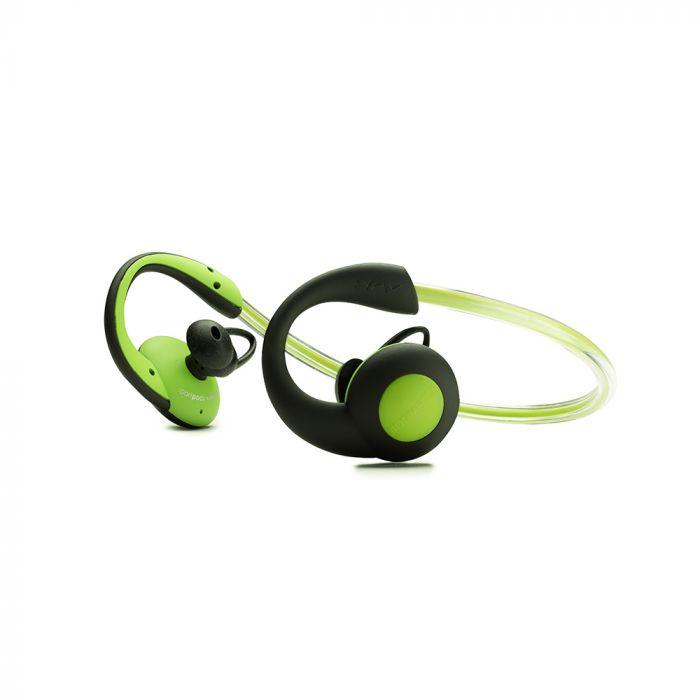 Casti Boompods Sportpods Vision Green (in-ear, bluetooth, illuminating head band, sweat resistant)