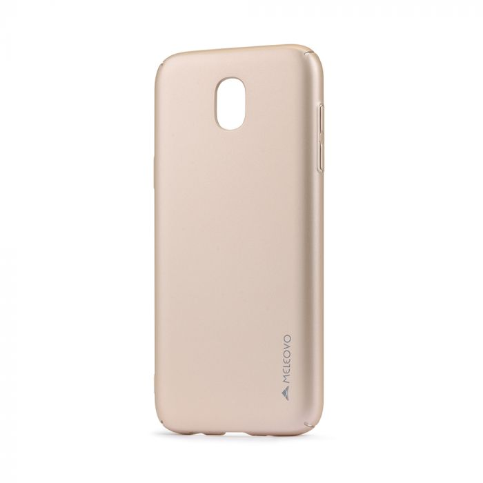 Carcasa Samsung Galaxy J7 (2017) Meleovo Metallic Slim 360 Gold (culoare metalizata fina)