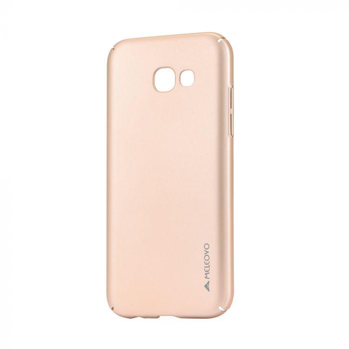 Carcasa Samsung Galaxy A5 (2017) Meleovo Metallic Slim 360 Gold (culoare metalizata fina)