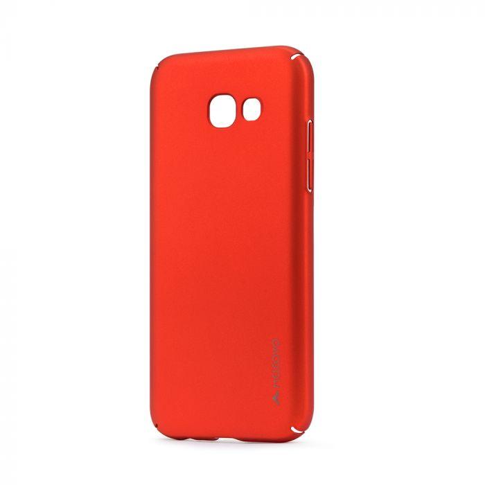 Carcasa Samsung Galaxy A5 (2017) Meleovo Metallic Slim 360 Red (culoare metalizata fina)
