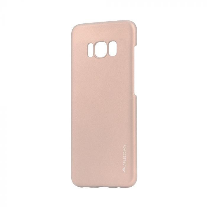 Carcasa Samsung Galaxy S8 G950 Meleovo Metallic Slim Rose Gold (culoare metalizata fina)