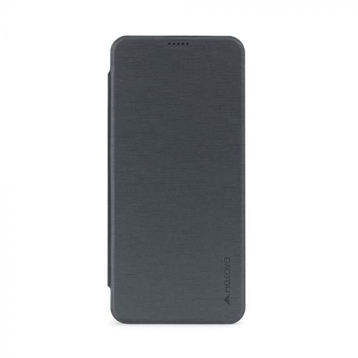 Husa Samsung Galaxy S8 G950 Meleovo Smart Flip Gray (spate mat perlat si fata cu aspect metalic)