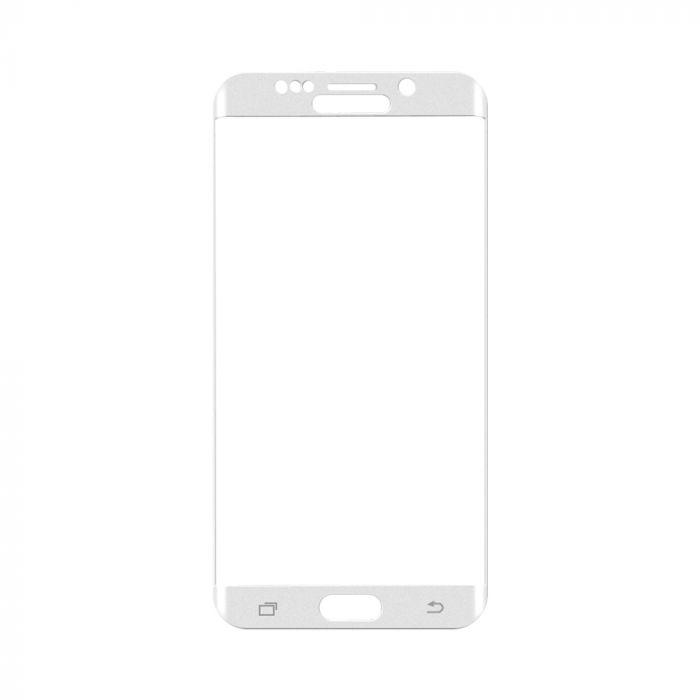 Folie Samsung Galaxy S6 Edge+ G928 Magic Sticla 3D Full Cover White (0.33mm, 9H)