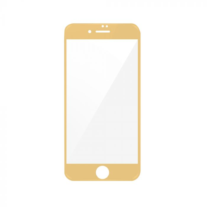 Folie iPhone 7 Plus Magic Sticla 3D Full Cover Gold (0.33mm, 9H)