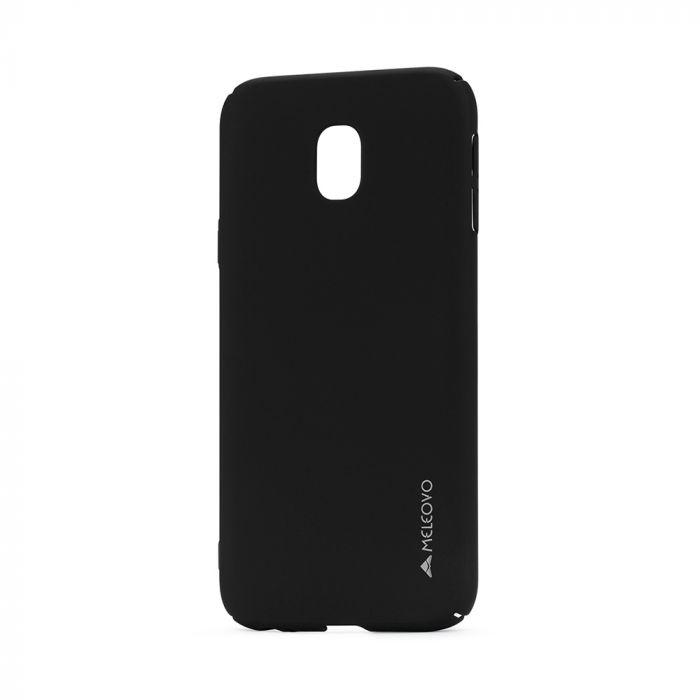 Carcasa Samsung Galaxy J3 (2017) Meleovo Metallic Slim 360 Black (culoare mata fina)