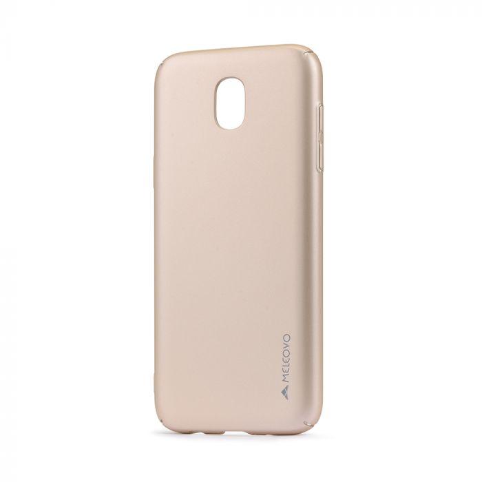 Carcasa Samsung Galaxy J3 (2017) Meleovo Metallic Slim 360 Gold (culoare metalizata fina)
