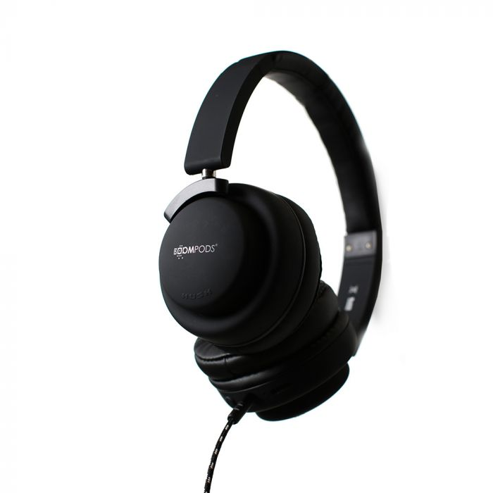 Casti Boompods Hush Black (active noise cancelling)
