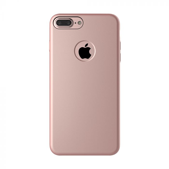 Carcasa iPhone 7 Plus Mcdodo Magnetic Rose Gold (textura fina, placuta metalica integrata)